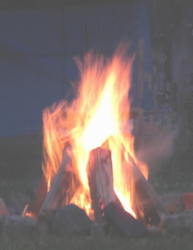 Fire at Whitehall Pow Wow