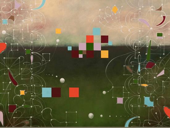"""Artwork: """"Sojourning #3"""" by Chiyoko Myose. Copyright © Chiyoko Myose"""