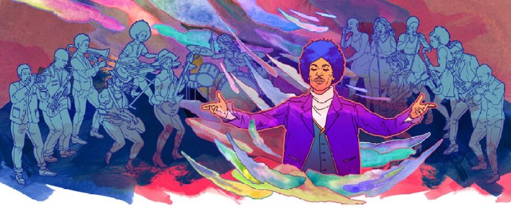 prince purple rain illustration artful living