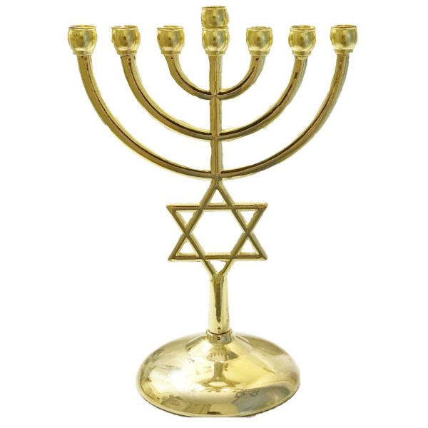Judaica, Gold Plated Menorah