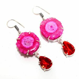 Druzy Garnet Earrings