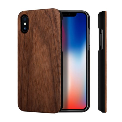 Phone Case Wood Cover iPhone X model