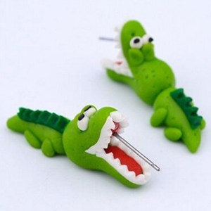 Fun Polymer Clay Earrings – Crocodiles