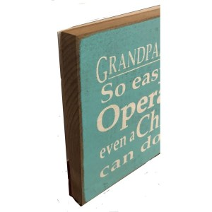 Wood Rustic Tile – Grandparents Easy to Operate