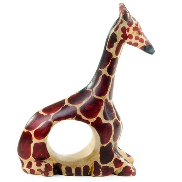 Wooden Giraffe napkin rings