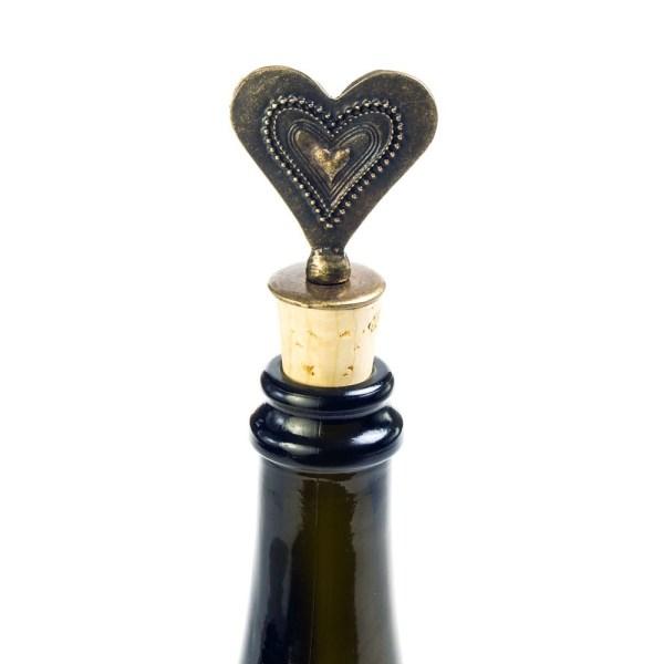 Fancy Heart Cork Stopper