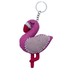 Felt Key Chain – Flamingo
