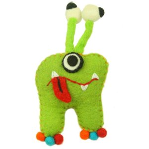 Felt Tooth Fairy Pillow – Green Monster