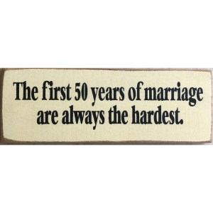 Wood Rustic Tile – First 50 Years of Marriage