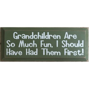Wood Rustic Tile – Grandchildren are so much fun