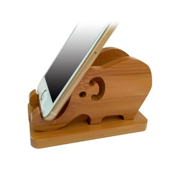 Wooden Figurine - Phone Holder