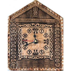 Birch Bark Wall Clock