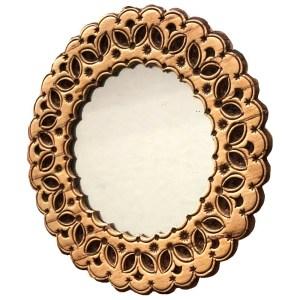 Birch Bark Decorated Round Mirror