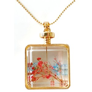 Pendant – Glass with Real Flowers