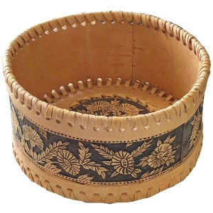 Birch Bark Decorative Plate – Flower Garden