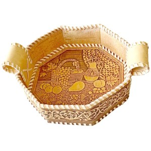 Birch Bark Decorative Plate – Autumn Breakfast