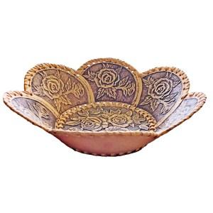 Birch Bark Decorative Plate – Rose