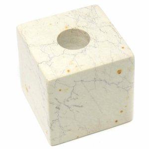 Cube Soapstone Candle Holder