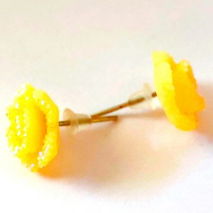 Small Rose Stud Earrings