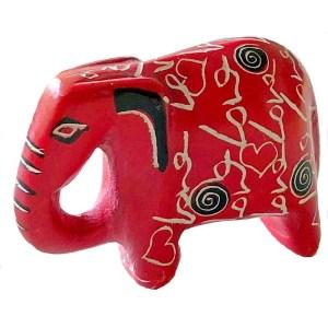 "Cute soapstone ""Love"" Sculpture – Elephant"