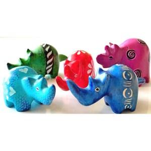 Cute soapstone rhino