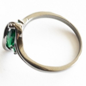 Ring – Black Gold with Emerald Stone