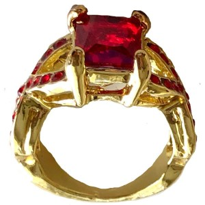 Ring – Gold Plated with Ruby Stones