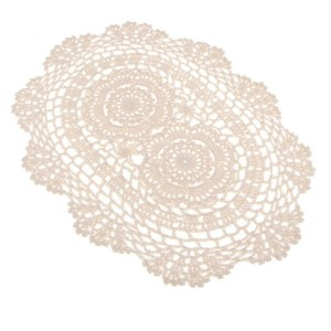 Crochet Cotton Lace Table Placemats – Oval