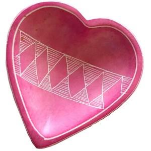 Decorative Heart Shaped Soapstone Plates