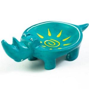 Sunshine Soapstone Rhino Dish