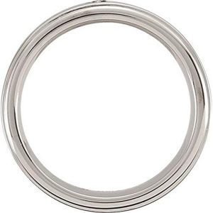 Ring – Cobalt and Stainless Steel  .05 CTW Diamond Satin Finish