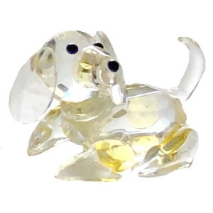 Glass Crystal Dog Figurine