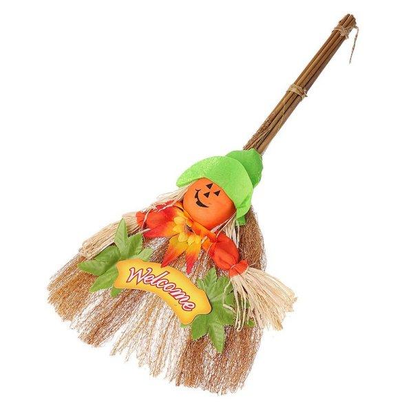 Halloween Decoration - Pumpkin Broom