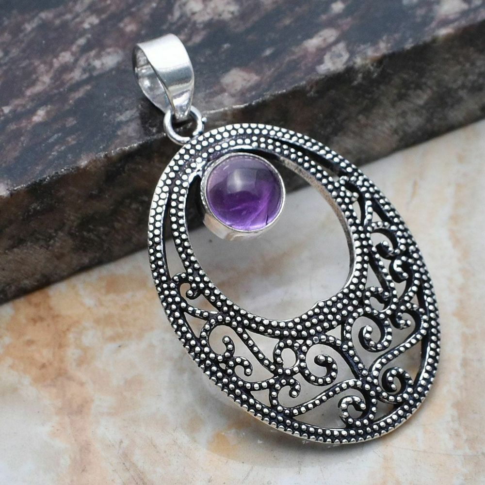 Pendant - Sterling Silver with Amethyst