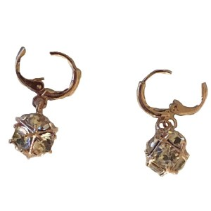 Gold Plated Earrings – Clear Stones