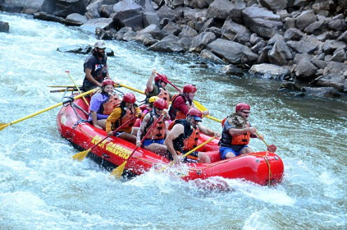 Beginning the rapids.