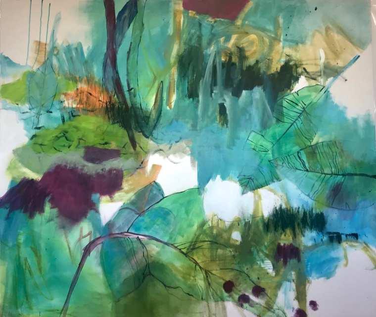 Woodland 150x130 cm Acrylic on Canvas