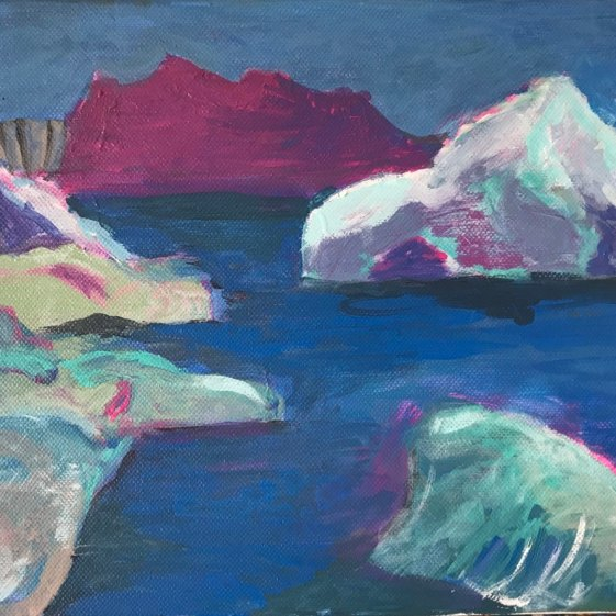 Greenland 2 Acrylic on Canvas 30x20cm