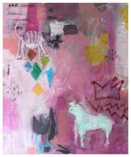 Picasso Pink Period inspired painting