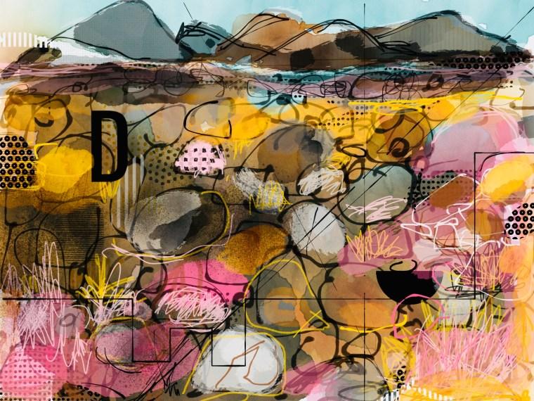 Painting #xx Stones to the horizon