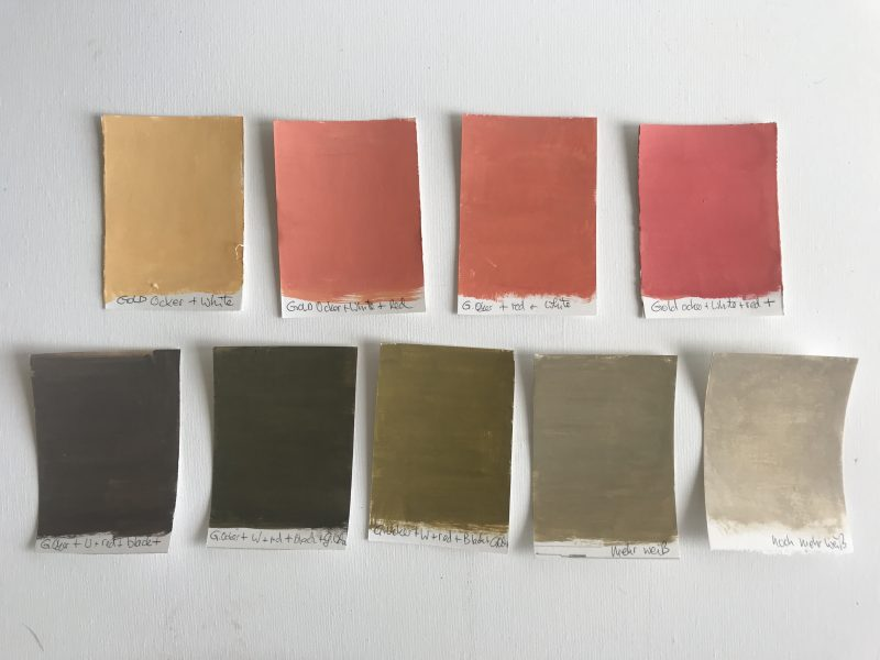 First swatches of the 100 day project