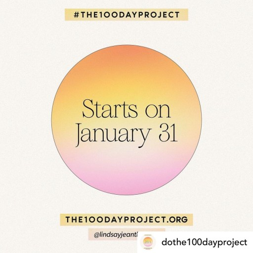 The 100 day project starting logo