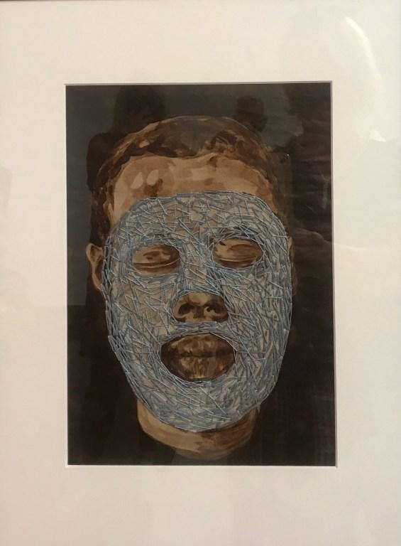 Man portrait textil art by Nanon Morsink