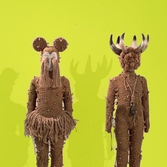 Impressing  textil art sculptures by Nanon Morsink