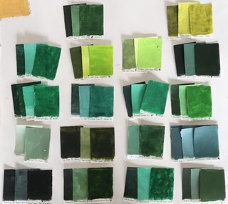 collection of green swatches for the 100 day project