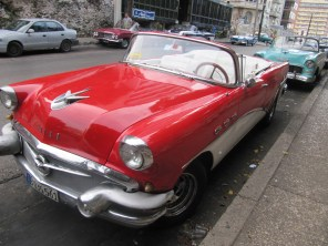 Lipstick Red Vintage Car