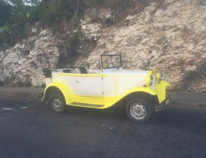 Lemon Yellow Vintage Car