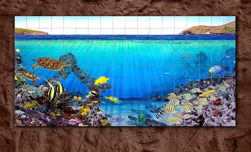 Hanauma Bay Tile Mural Entrance