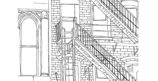 Architecture, coloriage gratuit du 25 avril