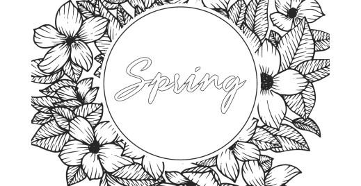 Coloriage gratuit, printemps 5 mai